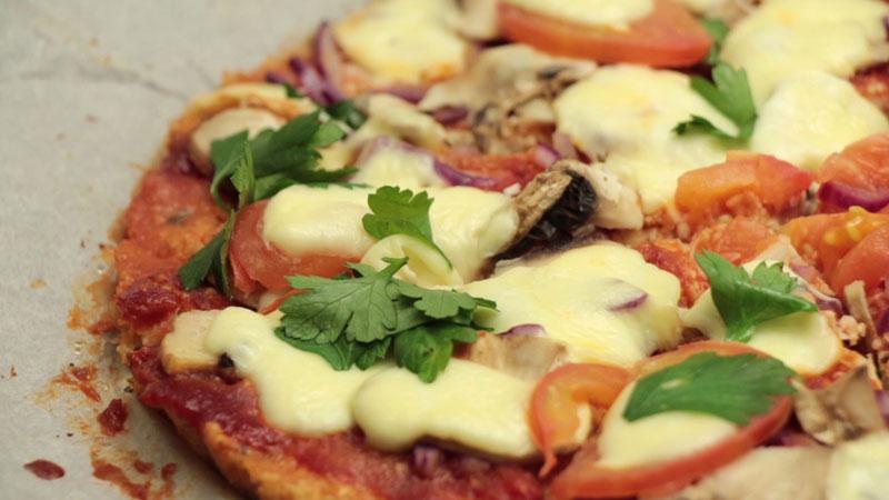 Photo of Cauliflower Crust Pizza and Cauliflower Rice