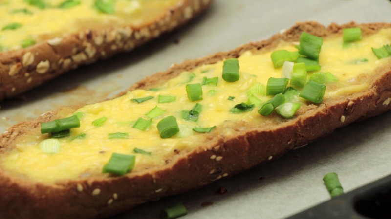 Photo of Baked Egg Boats With Cheese and Spring Onions