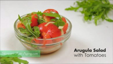 Photo of Arugula Salad with Tomatoes and Boiled New Potatoes with Dill Recipe