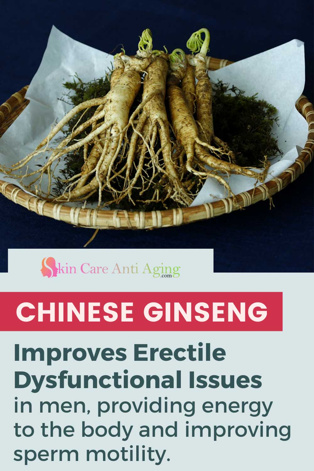 Chinese Ginseng improves erectile dysfunctional issues in men