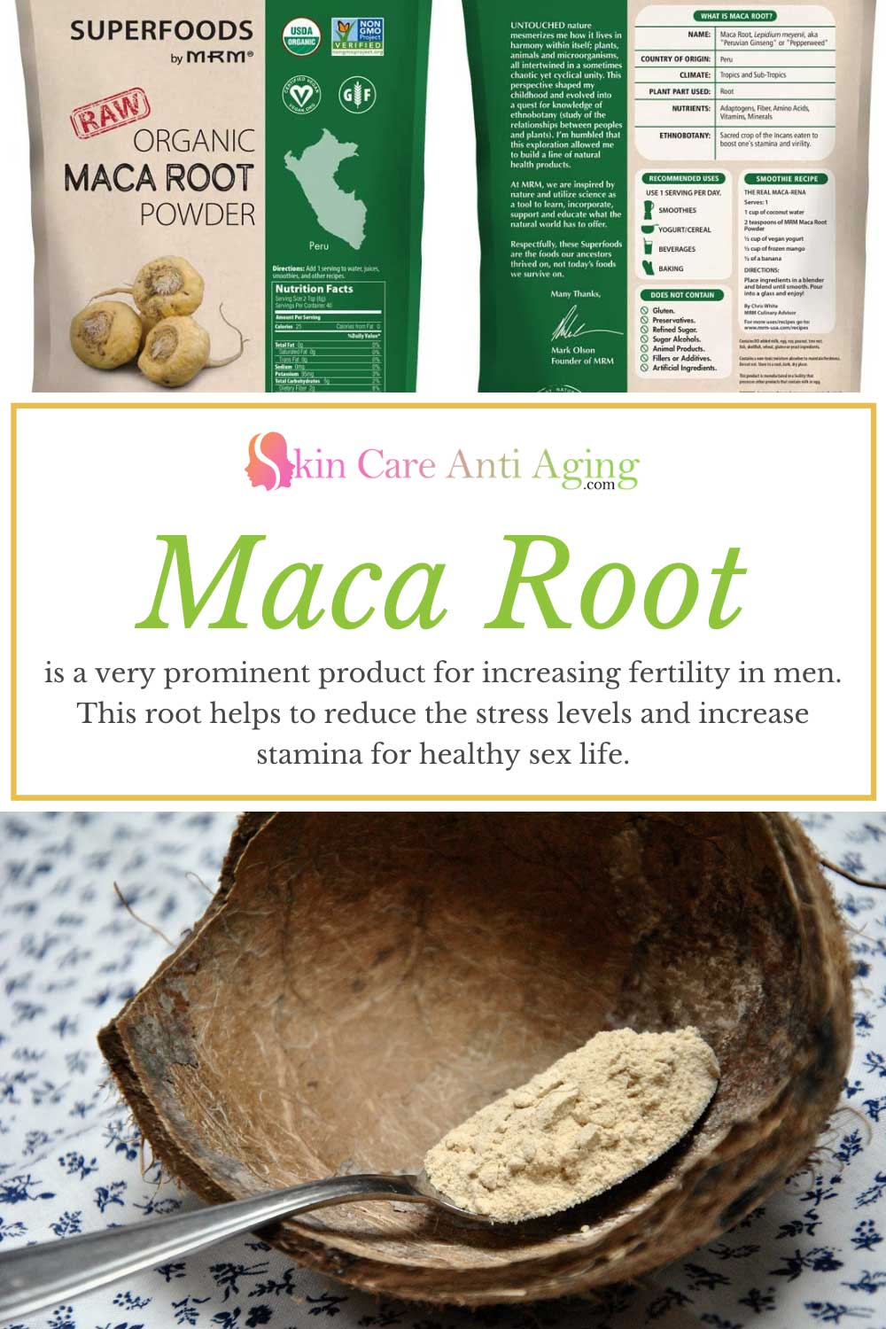 Maca root for increasing fertility in men